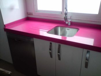 silestone pink worktops from studio kitchens