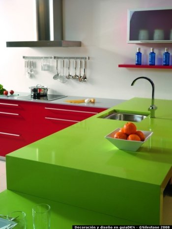 silestone green worktops from studio kitchens